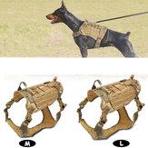 Nylon Cachorro Veterinário Tático Militar K9 Arnês Resistente À Água Vestuário Treinador Tático Pet Vestuário-M / L