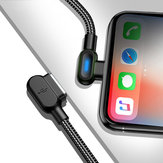 Bakeey 2.4A Type C Micro USB 90 Degree Fast Charging Double Elbow Data Cable with Indicator Light For Huawei P30 Pro Mate 30 Mi9 9Pro Oneplus 6T 7 Pro
