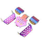 5PCS Colorful Stainless Steel Chassis Protection Skid Plate Armor for 1/10 TRX4 RC Vehicles Parts