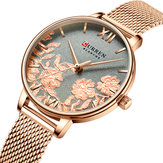 CURREN 9065 Flower Show Fashionable Ladies Wrist Watch