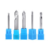 Drillpro 2 Flutes 90 Degree Chamfer End Mill for Aluminum 2/3/4/5/6/8/10/12mm Milling Cutter