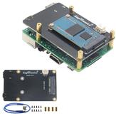 ترقية رواية V3.1 X850 mSATA SSD توسيع مجلس التخزين لمدة Raspberry Pi 3 Model B / 2B / B+