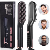 3 in 1 Men & Women Beard Hair Straightening Comb Electric Ceramic Ionic Fast Heating Brush Portable Travel Hair Styling Comb