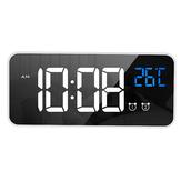 LD8808 Specchio caricabile LED Sveglia musicale Doppia modalità di allarme Temperatura Display Orologio desktop