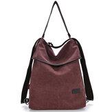 Zaino per borse a tracolla per borsa a grande capacità multifunzionale in pelle microfibra casual da donna