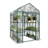 3-Tier Portable Greenhouse 6 Shelves PVC Cover Garden Cover Plants Flower House Without Iron Bracket
