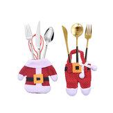 Loskii 1 conjunto Criativo de Natal Roupas Pequenas Calças Conjuntos de utensílios de mesa Cozinha Restaurante Hotel Layout Faca Garfo Colher Conjunto Xmas Decorações
