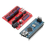 Funduino Nano Expansion Board + ATmega328P Nano V3 Improved Version Geekcreit for Arduino - products that work with official Arduino boards