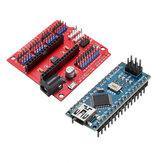 Funduino Nano Genişleme Kartı + ATmega328P Nano V3 Arduino için Geliştirilmiş Sürüm Geekcreit - resmi Arduino panolarıyla çalışan ürünler
