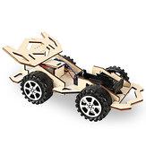 Assemblaggio di auto da corsa in legno elettrico Kit modello fai da te Giocattoli didattici educativi
