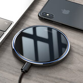 KUULAA 10W LED Indicator Fast Charging Pad Qi Wireless Charger For iPhone XS Max XR Huawei P30 Pro Mate 30 5G Mi9 9Pro 5G S10+ Note 10 5G