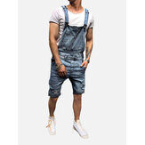 Heren Slim Fit denim korte casual jumpsuit