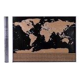 Grattez la carte du monde affiche de vacances interactive cartes de voyage du monde pour la décoration de bureau à domicile