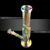 5 Types Handmade 30cm Beaker Glass Joint Pipes Bubblers for Smoking Recycler Tobaccco Water Hookaah Pen with/without Luminous