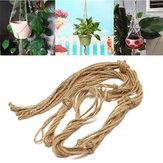 Håndlavet Macrame plantehænger hængende planter kurv jute vævning reb håndværk Dekorationer