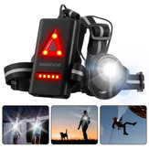 SGODDE Outdoor Night Running Light LED Front Bike Running Light With 120 ° Adjustable Beam Safety Warning Belt With Rechargeable Battery