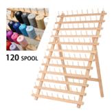 120スプールウッドスレッドコーンホルダーラックオーガナイザーソーイングキット縫製キルティング刺繍
