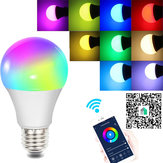 Fcmila E27 E26 B22 E14 GU10 10W Wifi Smart Bulb RGBW Smart APP Control LED Light Work With Siri Alexa AC85-265V