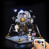 الصمام ضوء ضوءing عدة ليغو 10266 أبولو 11 Lunar Lander Building Brick