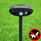 Udendørs have Solar Ultrasonic Repeller PIR Pest Animal Mouse Fox Cat Dog Repellent