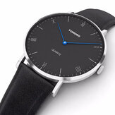 TOMORO TM0818 Leather Strap Blue Pointer Men Quartz Watch