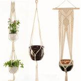 Portavasi per fiori Macramè Appendiabiti per piante Appendiabiti per fioriere Cesto Decorazioni in corda intrecciata