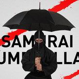 KCASACreativeLongmancheGrandparapluie coupe-vent Samurai Japonais ressemblant à Ninja Soleil Pluie Droit Parapluie Manuel Ouvert