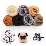 7 kleuren Roving wol vezel DIY naaldvilt handwerk pluizig Soft wollen vezel naaien ambachten Kit