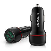 BlitzWolf® BW-SD5 18W Dual-Port USB 3.0 Mini Car Charger for iPhone 11 Pro XS Xiaomi Mi8 Pocophone F1
