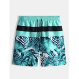 Mens Beach Striped Printing Lässige Five Point Shorts Hose