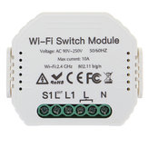 Wireless WiFi Smart Wall Timer Switch Module Work For Alexa For Google Home App