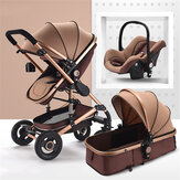 3 in 1 Kinderwagen High View Landschaft Kinderwagen Falten Kinderwagen Autositz
