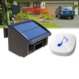 Sistema de alarme de garagem solar Sistema de alarme de 1/4 de milha de comprimento ao ar livre Detector de movimento Sensor