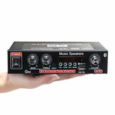 2CH LCD Display HIFI Audio Stereo Power Amplifier Bluetooth FM Radio Car Home Remote Control