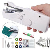 Mini Portable Sewing Machine Handheld Cordless Quick Clothes Stitch For Home Travel