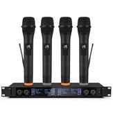Professioneel UHF 4-kanaals 2-kanaals draadloos handheld microfoonsysteem Microfoon voor toneelkerk Familiefeest Karaoke-bijeenkomst