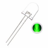 50pcs 10mm Green Transparent LED Diode 20mA 3V 515-520nm Round Through Hole Emitting Lamp