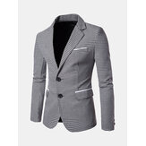 Mens Casual Casual Plaid Slim Blazers