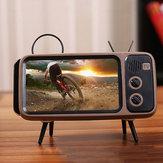 Bakeey Mini rétro TV modèle haut-parleur bluetooth bureau téléphone portable Stand Holder support paresseux pour téléphone mobile entre 4,7 pouces à 5,5 pouces