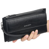 Baellerry New Fashion Retro Casual Multi-function High-capacity Zipper with Card Slots Men Phone Wallet Bag