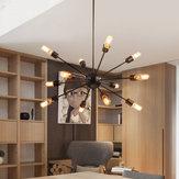 Vintage Industrial Pendant Light Ceiling Sputnik E27 12 Heads Edison Light Chandelier