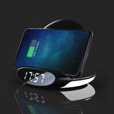 Bakeey 3in1 10W Qi Night Light Alarm Clock Phone Holder Wireless Charger Dock with USB Output Quick Charge Vertical for Samsung S10+ for iPhone 11 Pro Max 9T Mi9 Pro HUAWEI P30Pro LG