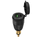 Type-C QC3.0 USB Charger Quick Charge Socket Waterproof For Motorcycle Car SUV Boat