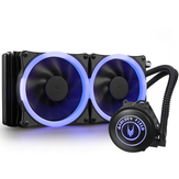 1PCS 12cm Blue LED CPU Water Cooling 2 Fans PWM CPU Cooling Fans Desktop Integrated For Intel AMD