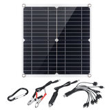 35W Portable IP65 Monocrystalline Solar Panel Double USB Port 10-in-1 Charging Cable