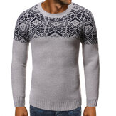 Men's New Soft Snowflake Round Neck 3D Openwork Sweaters
