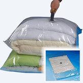 100x80cm Grote ruimtebesparende vacuümafdichting Opslag Verpakkingszak voor kleding Kussens gooit seizoensgebonden beddengoed
