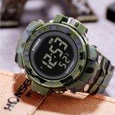 SYNOKE 9030 Модные мужские часы Водонепроницаемы Неделя Дисплей Сигнализация EL Light Камуфляж Цифровые Часы