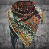 Multifarben Color Block Cotton Blend Women's Scarves & Shawl