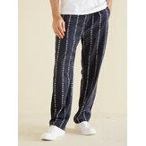Pantalon ample décontracté en velours côtelé pour hommes
